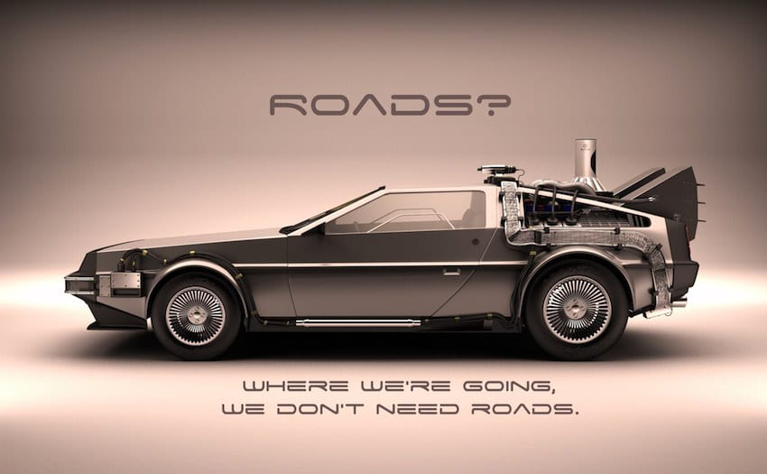 back to the future roads quote