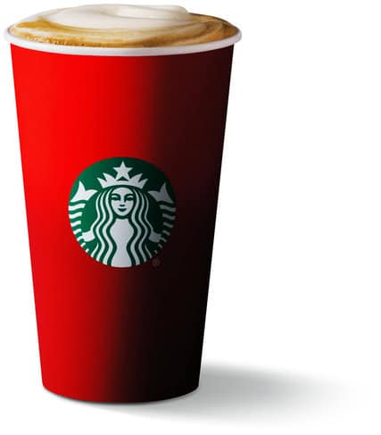 Starbucks holiday cups and web marketing in 2015.