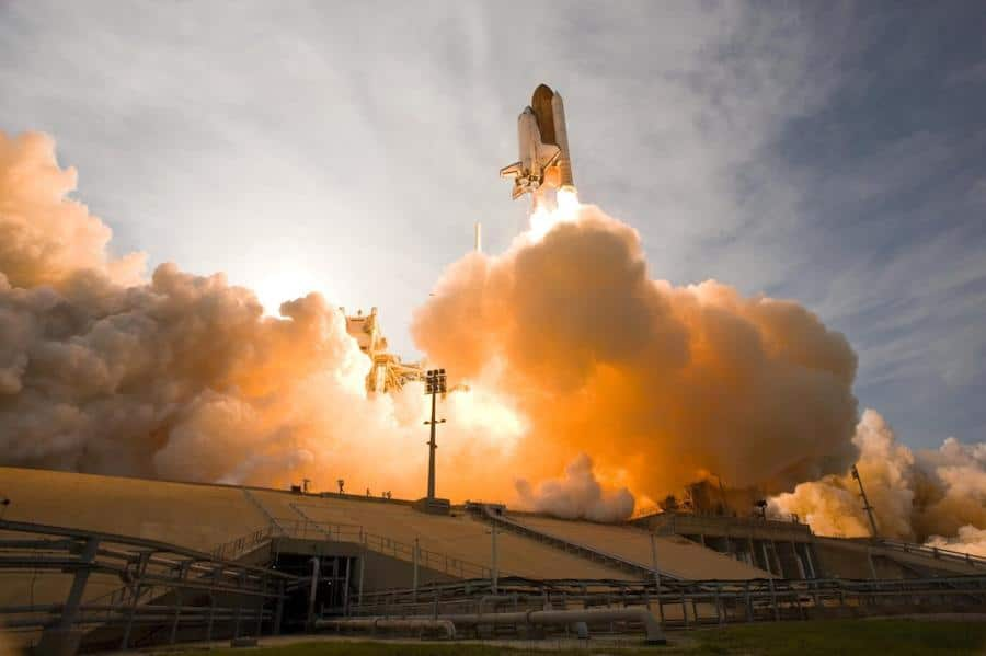 Rocket ship launching your business into good SEO space.