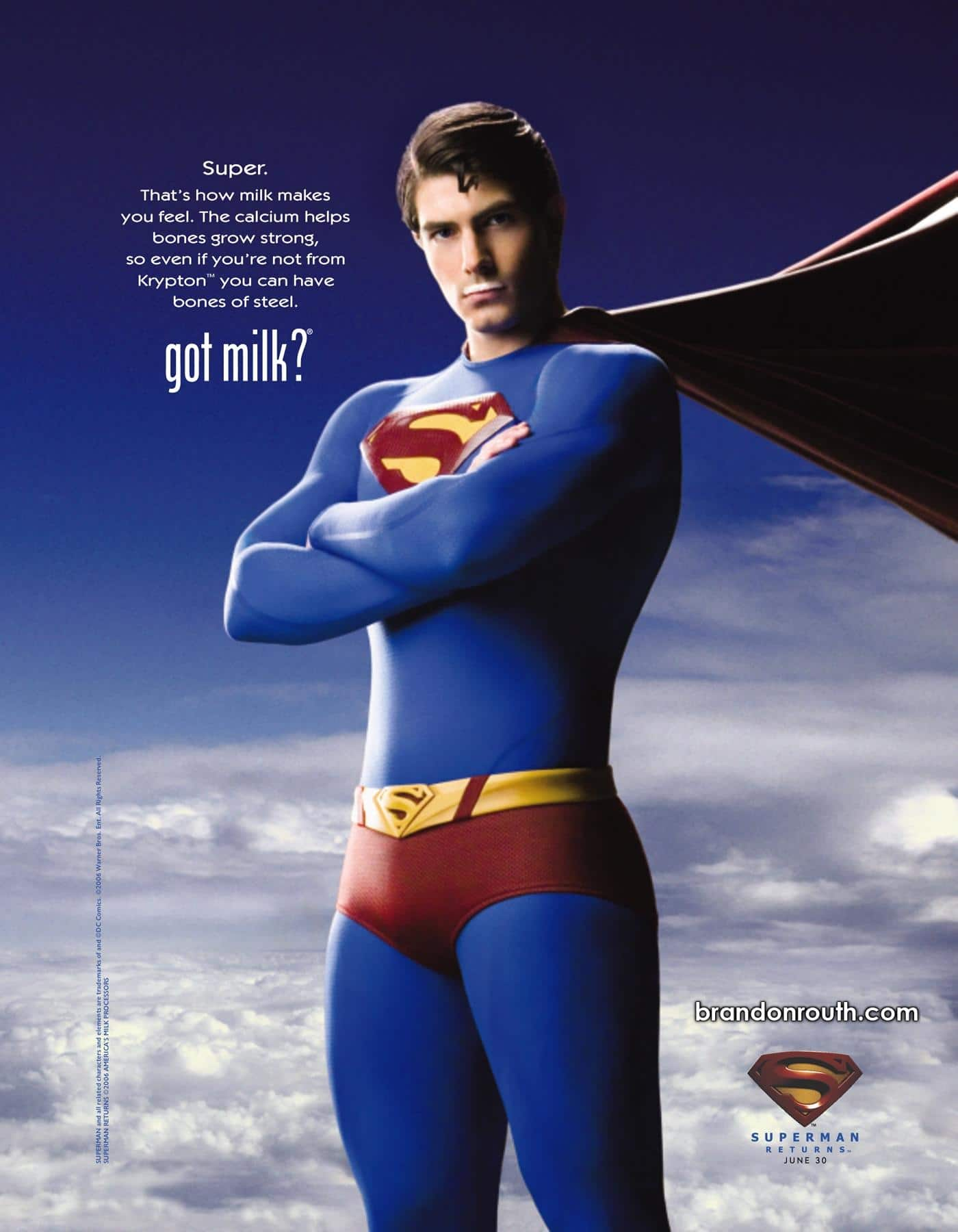 Got Milk marketing by Superman