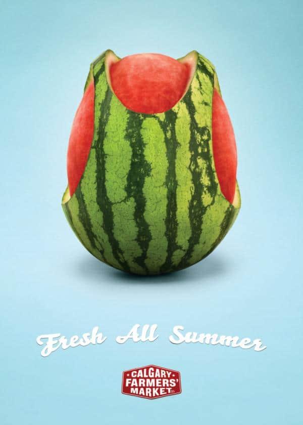 Watermelon bikini summer marketing promotion