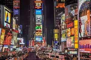 picture of Times Sq NY at night