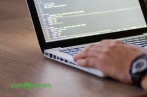 html on laptop