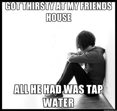 Meme about marketing tap water